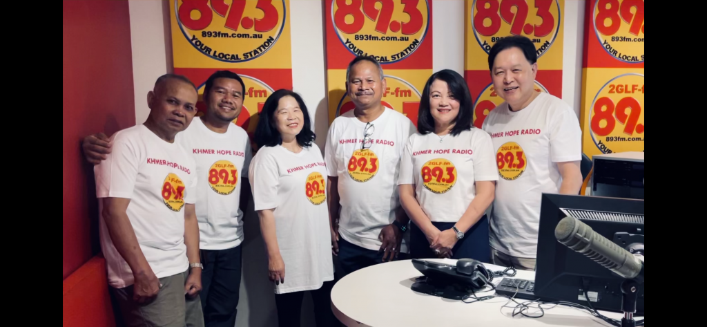 The team from Khmer Hope Radio